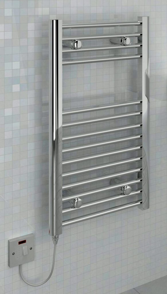 Electric towel warmer with on/off switch