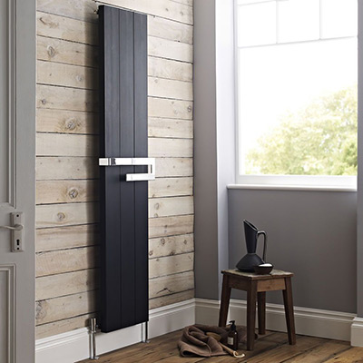 Hudson Reed Ceylon home radiator in black