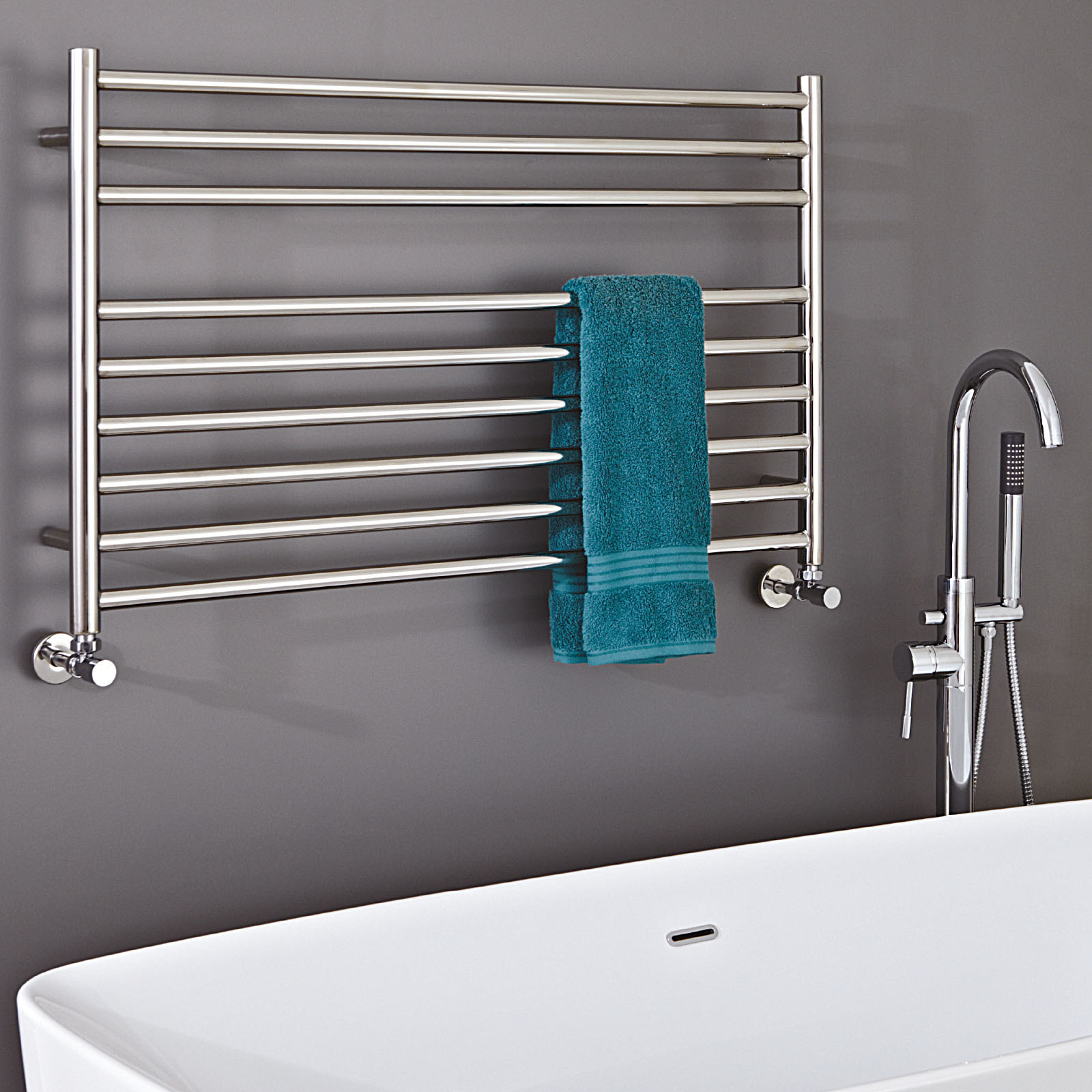 Zonta Wall Mounted Stainless Steel Towel Radiator