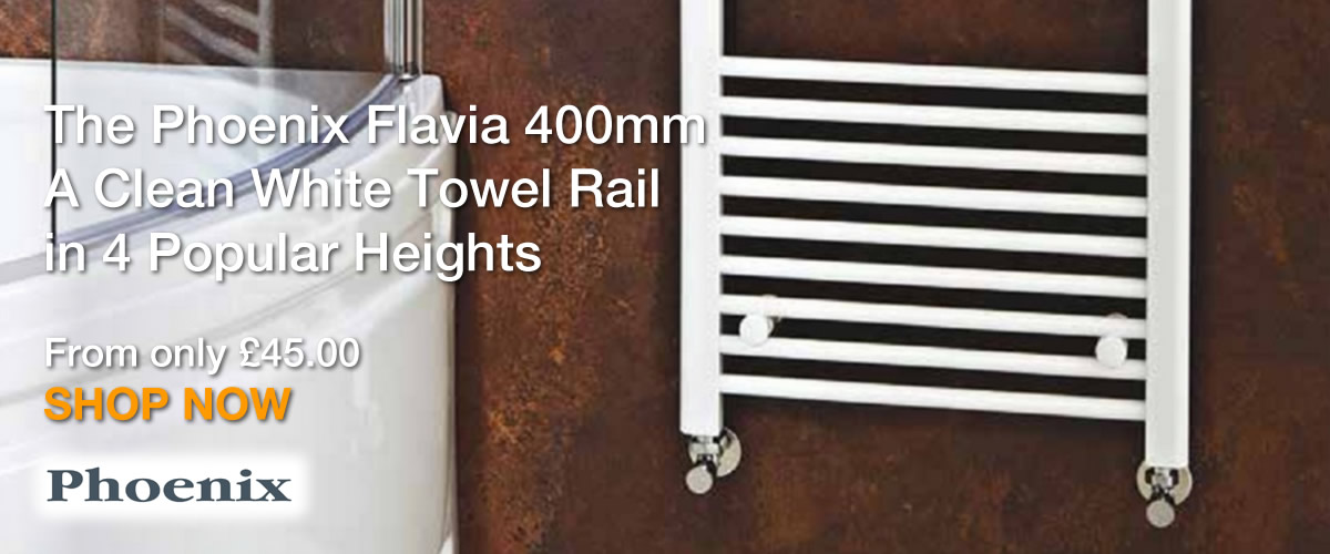 Phoenix Flavia 400mm White Towel Rails