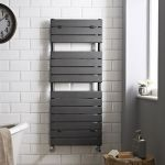 Anthracite Hudson Reed Flat Panel Towel Radiator