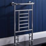 Phoenix Catherine 535 x 914 Floor Standing Traditional Heated Towel Rail