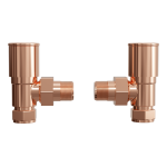 Aquatech angled valves in rose gold