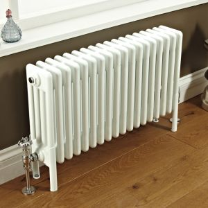 Phoenix LPhoenix Nicole White 4 Column Radiatorilly Old Fashioned White Radiator