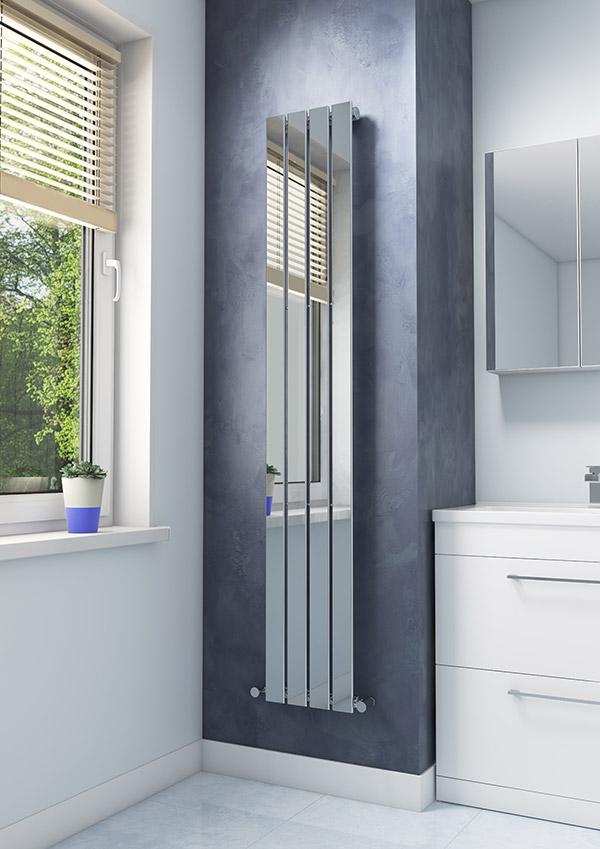 Tall reflective panel radiator