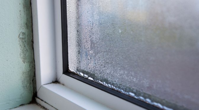 Condensation on a double glazed window