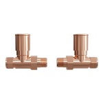 Aquatech straight valves in rose gold