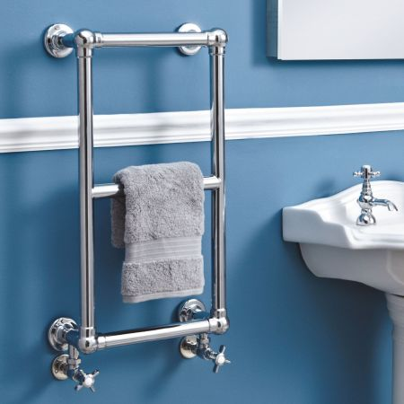 Phoenix Anne 400 x 700 Wall Mounted  Traditional Heated Towel Rail
