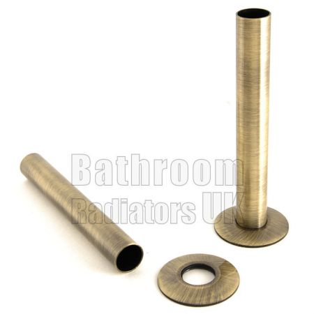 Antique Brass 130mm Radiator Pipe Sleeve Kit
