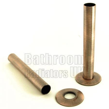 Antique Copper 130mm Radiator Pipe Sleeve Kit