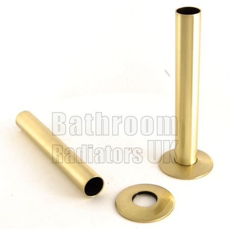 Brass 130mm Radiator Pipe Sleeve Kit