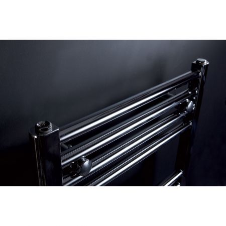 Phoenix Flavia Straight Wide Towel Rail Close Up Detail