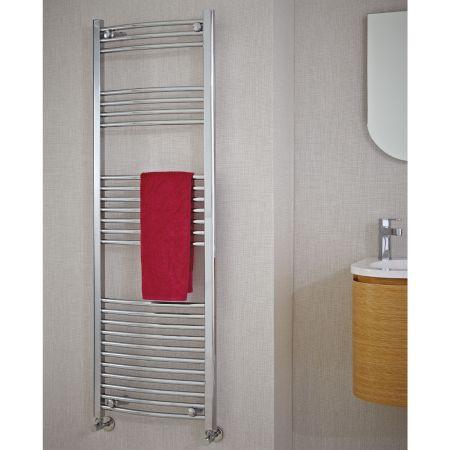 Phoenix Gina Curved Chrome Electric Towel Rail