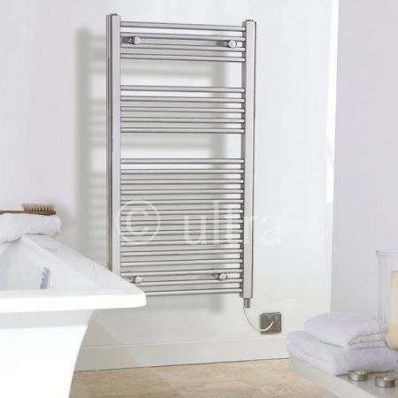 700mm Chrome Electric Towel Rail