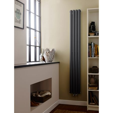 Hudson Reed Revive Compact & Narrow Anthracite Double Panel Radiator