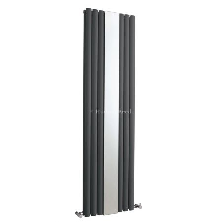 Hudson Reed Anthracite Single Panel Designer Radiator With Mirror