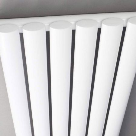 Hudson Reed Revive White Radiator Profile Close Up Shot