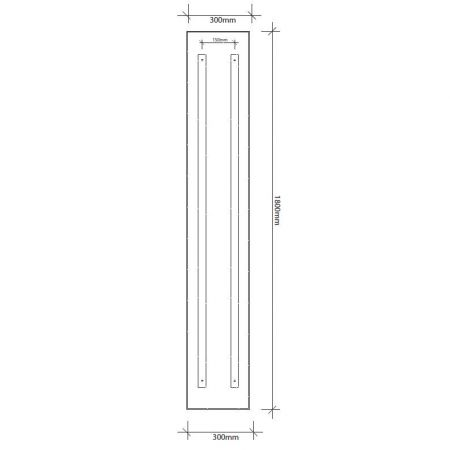 1800mm high infrared panel technical drawing