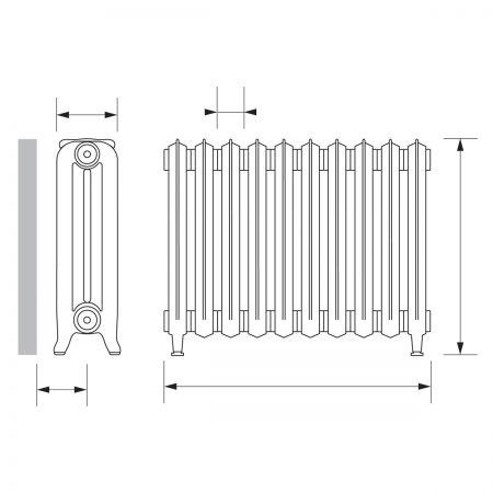 Nostalgia column radiator diaram