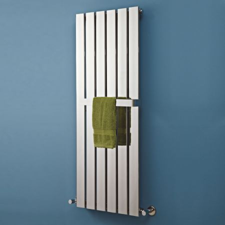Phoenix Orla Flat Paneled Chrome Radiator eith Optional Towel Rail