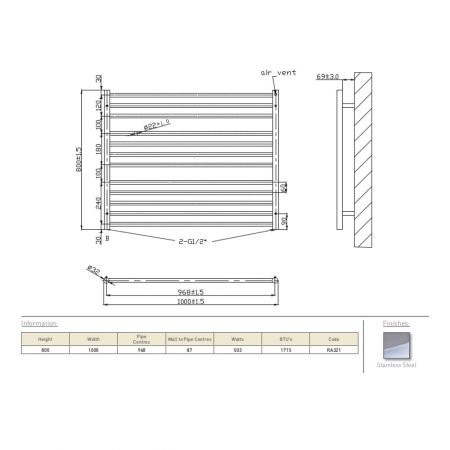 RA321 Zonta 800x1000 Technical drawing