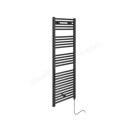 Essential Anthracite Electric Towel Rail 480mm wide