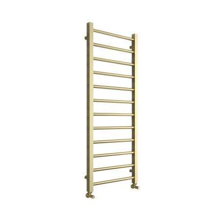 Aquaglass Mineral Brushed Brass Radiator With Round Crossrails